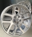 Chrome effect alloy wheel
