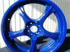 Candy blue alloy wheel