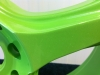 Green alloy wheel (close up)