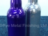 Powder coated glass bottles